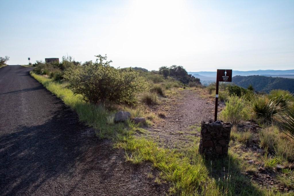 Trail Crosses Skyline Drive