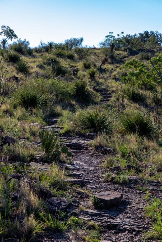 Trail Climbing Up The Ridge