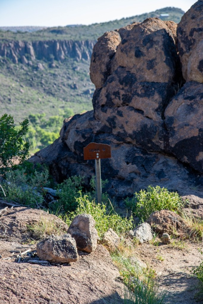 The Boulder Field Entrance Trail Sign