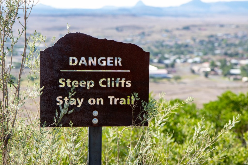 Danger: Steep Cliffs, Stay on Trail