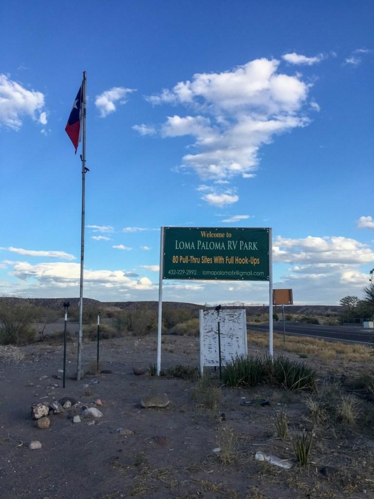 Loma Paloma RV Park Sign