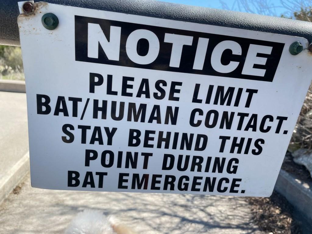 Sign: Limit Bat/Human Contact