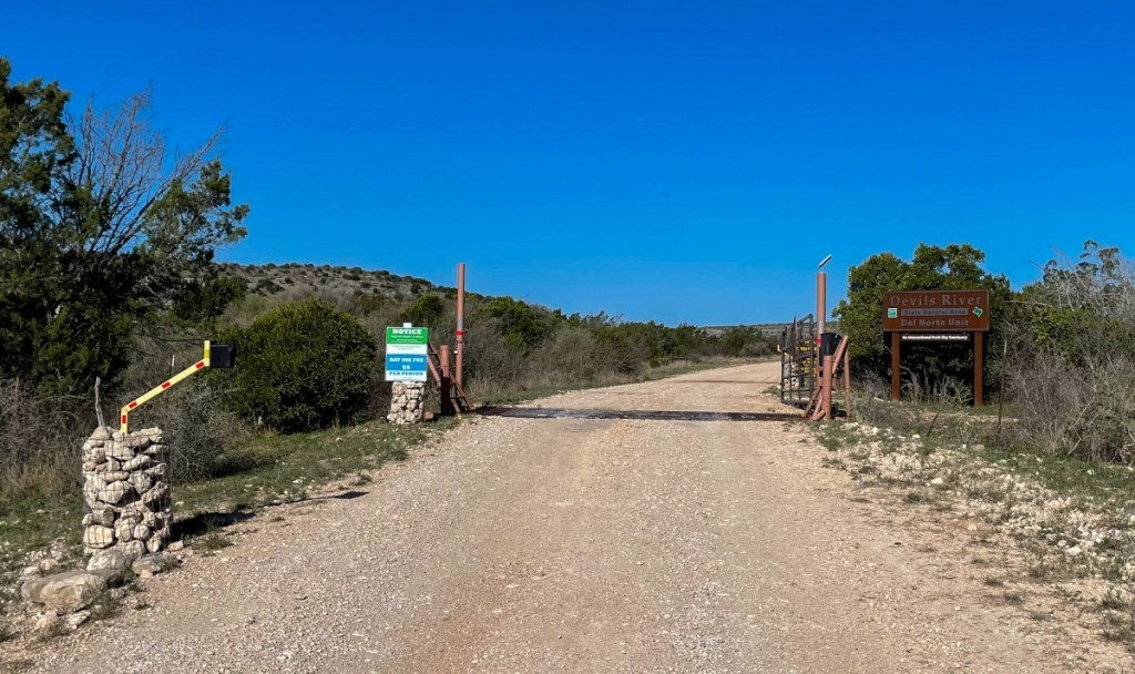 Park Entrance With Cattle Guard