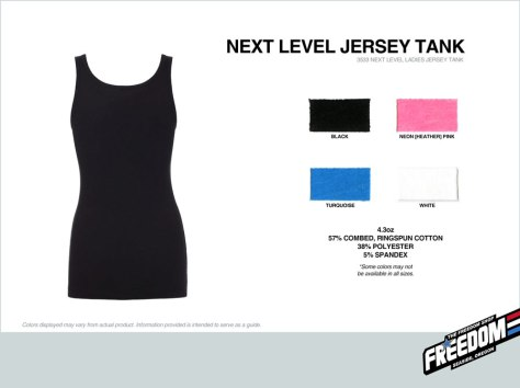 Next Level Tank - Freedom stock colors 2015