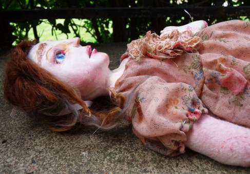 Victorian Paperclay artist's doll by The Free Folk