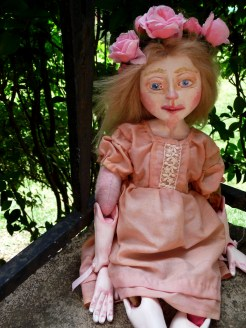 a sweet sculpted blonde art doll by The Free Folk