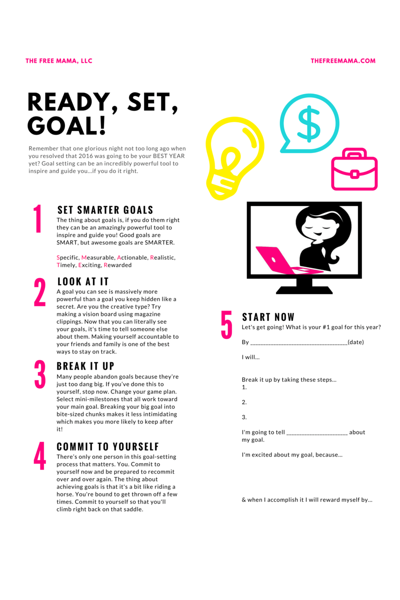 5 ways to actually achieve your goals this year - The Free Mama