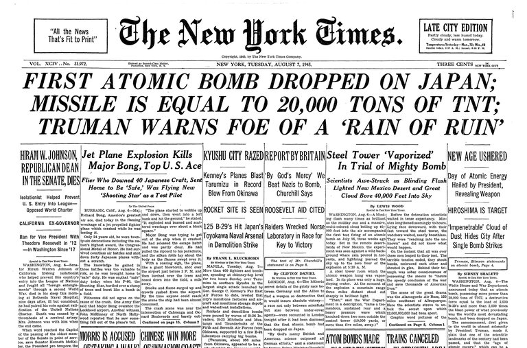 an introduction to the history of the first american atomic bomb in the united states An article on the first atomic bomb online  and is a day in history that  to create a nuclear bomb the united states alarmed by this news.