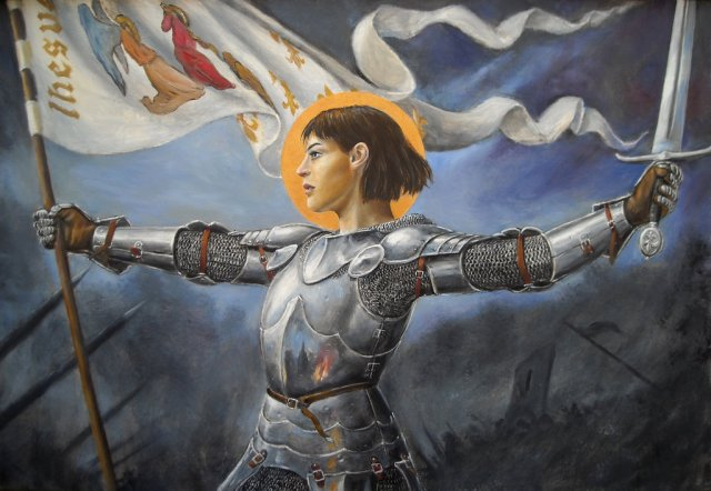 "Saint Joan of Arc is considered a ""martyr"" by the Roman Catholic Church."