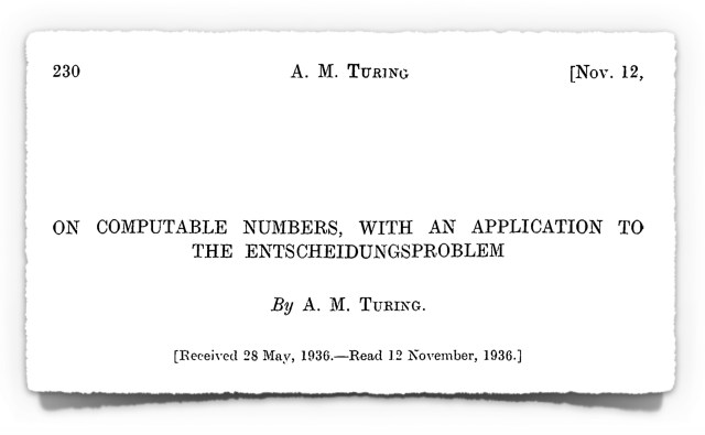 Alan Turing's Famous 1936 Paper on Computable Numbers