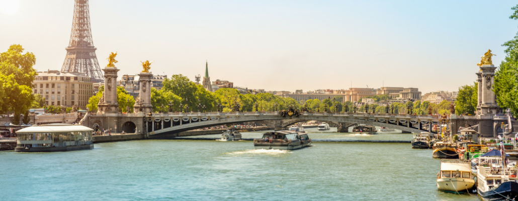 Paris Seine and Bridge