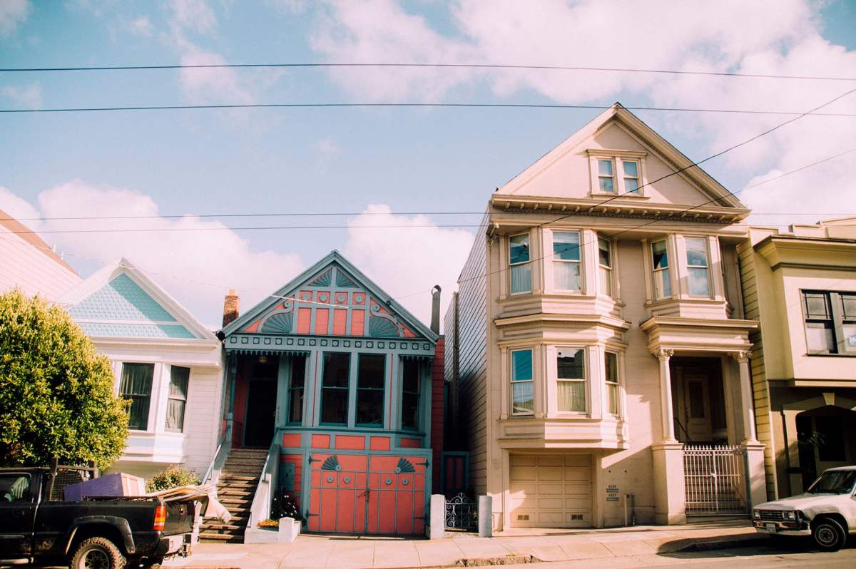 san francisco maison colorée