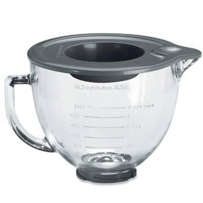 Le bol en verre du robot pâtissier