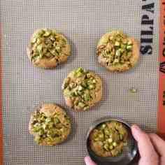 Cookies pistache cuits et cerclés