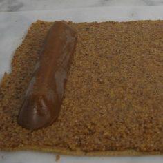Roulage de linsert praliné caramel