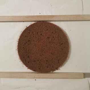Cake chocolat coupé