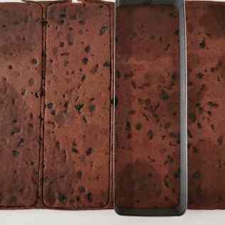 Cake chocolat cerise détaillé