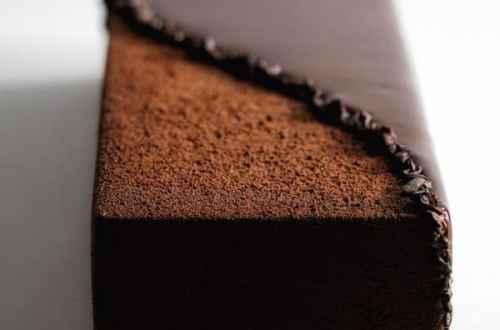 bûche écrin chocolat face