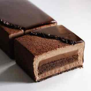coupe bûche écrin chocolat