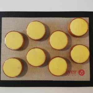 Tartelettes noisette citron lissées de crémeux