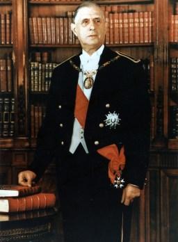Charles De Gaulle's official portrait