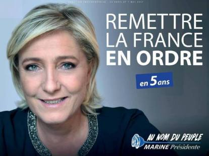 Le Pen's poster for the first round
