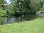 Fly fishing on the Chatsworth Fishery