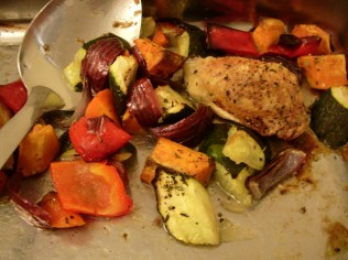 one-tray roast chicken and vegetables_6