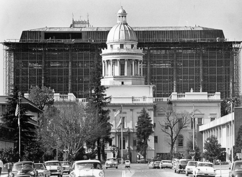 Fresno County Courthouse construction, Nov. 1965