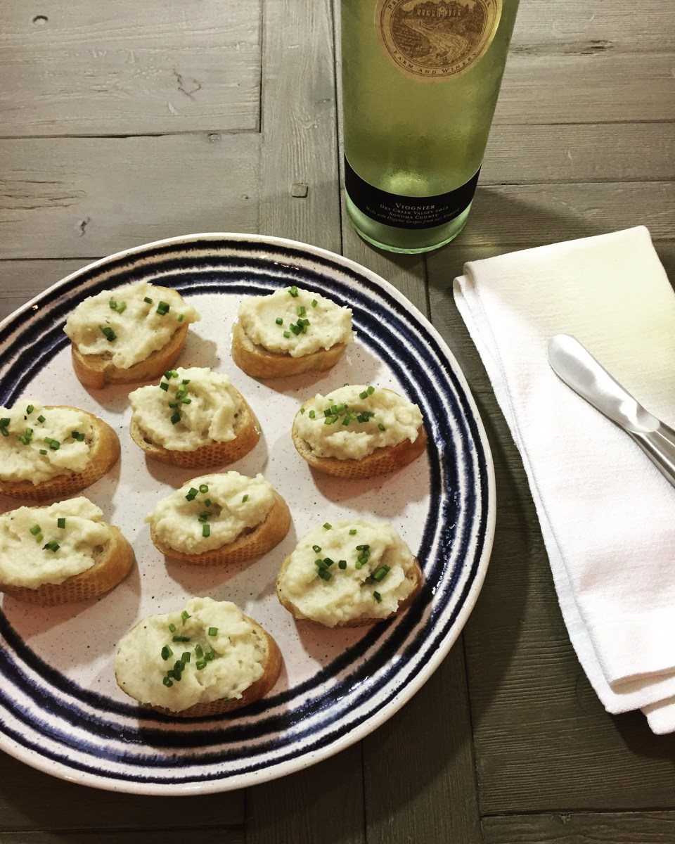 Truffled Cauliflower Crostini