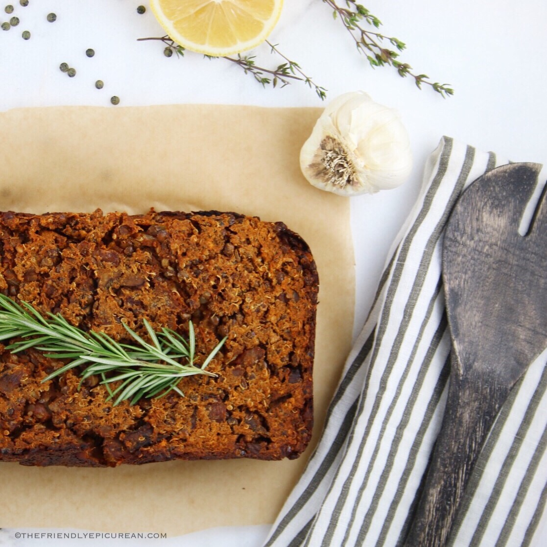 Lentil and Quinoa Loaf