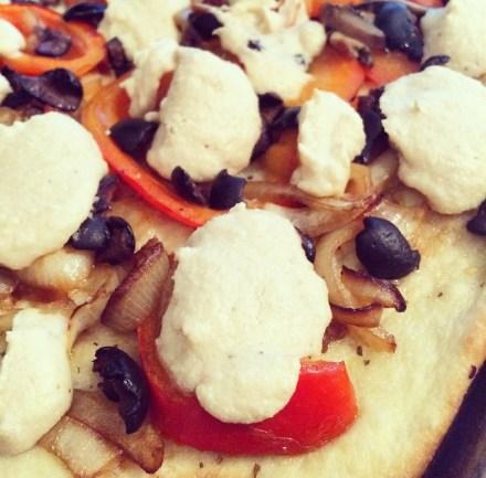 Vegetables Cashew Cheese Pizza Vegan Recipe