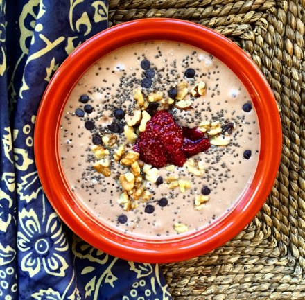 Peanut Butter Jelly Smoothie Bowl