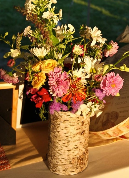 Diy Birch Bark Vase The Friendly Fig