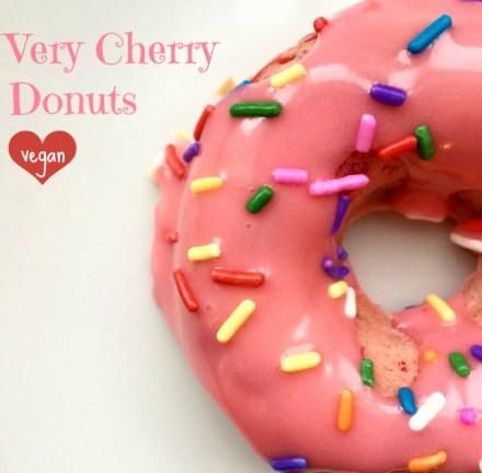 Vegan Cherry Donuts Recipe
