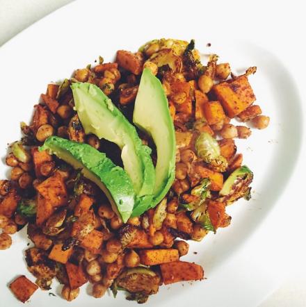 Sweet Potato Chickpea Hash Vegan Recipe