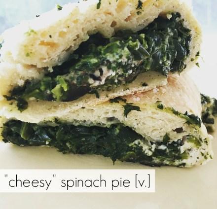 Vegan Spinach Calzone