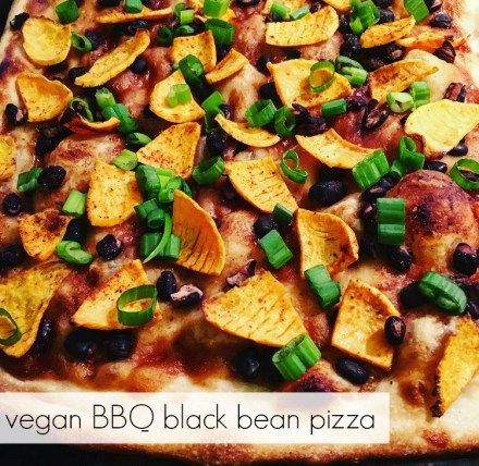 Vegan BBQ Black Bean Pizza