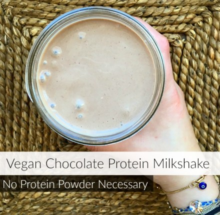 Vegan Chocolate Protein Milkshake