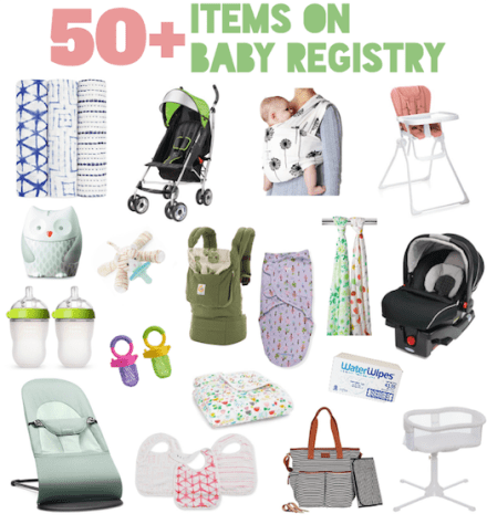 what s on my baby registry the friendly fig
