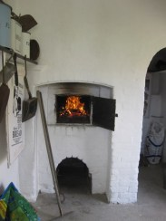 Firing the bread oven