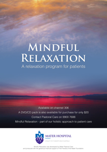 mindful relaxation poster
