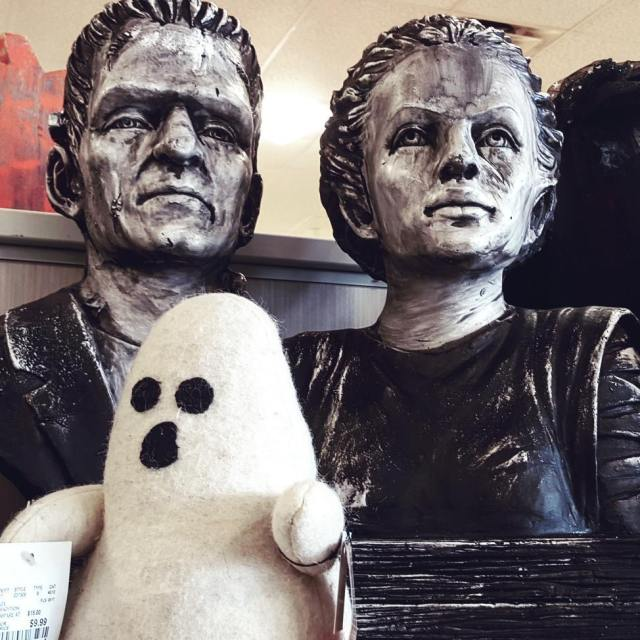 Happy Family homegoods halloween merchandise frankenstein busts