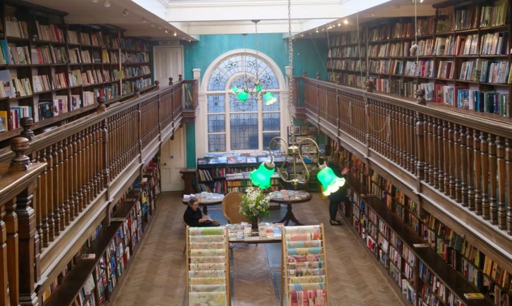 Interior of the magical Daunt Books Marylebone bookshop in London