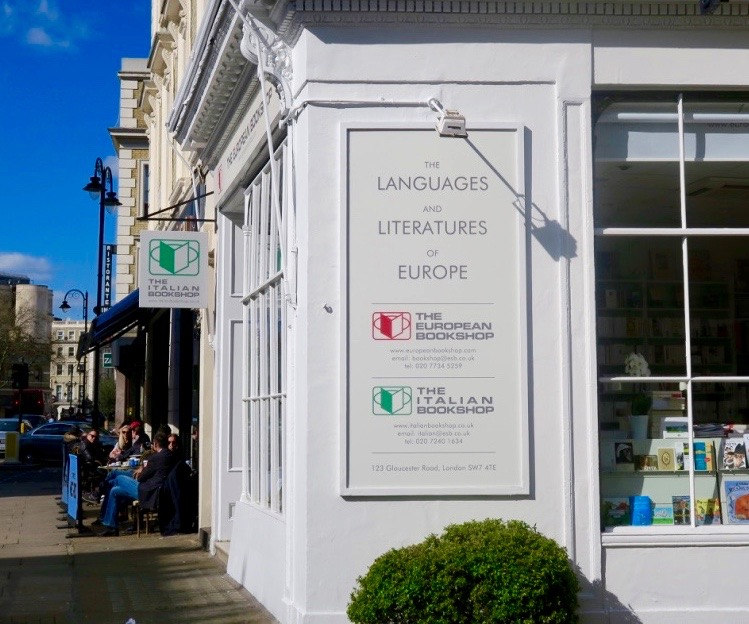 Exterior of the Italian Bookshop in London
