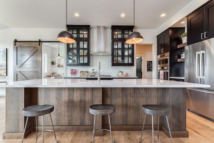 10 Best Modern Farmhouse Kitchen Ideas 2020 - The Frisky on Kitchen  id=68840