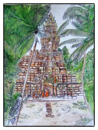 Bakong temple by Maria Boklach