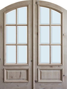 arched and round top wood doors the