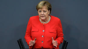 Merkel condemns far-right violence in eastern Germany
