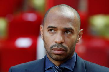 Soccer Football - Champions League - Group Stage - Group A - AS Monaco v Atletico Madrid - Stade Louis II, Monaco - September 18, 2018  Thierry Henry in the stadium before the match   REUTERS/Eric Gaillard